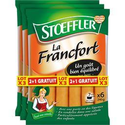 Stoeffler Saucisses La Francfort