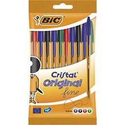 Stylo bille Cristal Original fine 0,8 mm assortis