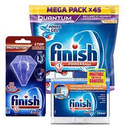 Tablettes lave-vaisselle + additif de lavage + Nettoyant Machine