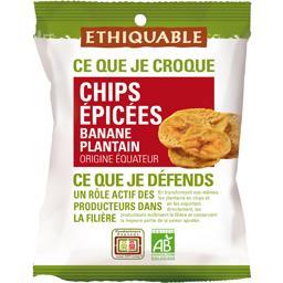 Chips épicées banane plantain BIO