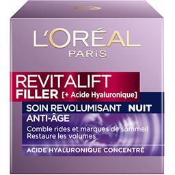 L'Oréal Revitalift Filler - Soin anti-âge revolumisant nuit