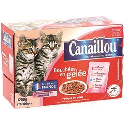 Bouchées en gelée viande & poisson pour chats junior...