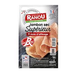 Monique Ranou Jambon sec supérieur Label Rouge la barquette de 8 tranches - 150 g