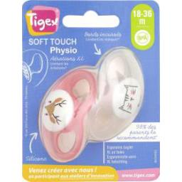 Sucette physio silicone Soft Touch 18-36 mois