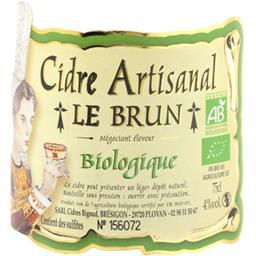 Cidre artisanal Le Brun BIO
