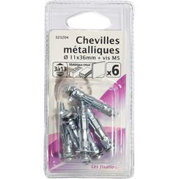 Chevilles métalliques 11x36mm + vis M5
