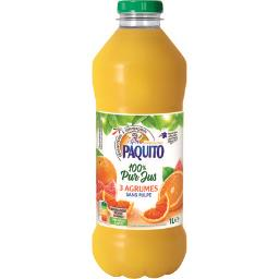 100% pur jus 3 agrumes sans pulpe