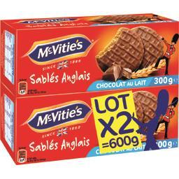 Mc Vitie's Sablés Anglais chocolat au lait les 2 paquets de 300g