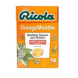 Bonbons orange menthe sans sucres