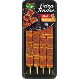Brochettes de bœuf extra tendre à la Mexicaine