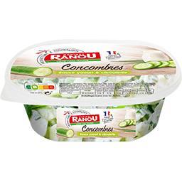 Concombres sauce yaourt & ciboulette