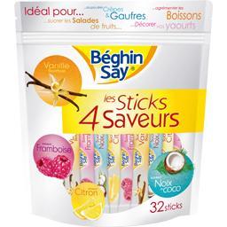 Sticks de sucre 4 saveurs