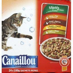 Mijotés en sauce viande & poisson pour chat adulte
