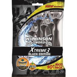 Wilkinson Xtreme 3 - Rasoirs jetables Black Édition