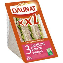 XXL - Sandwich 3 jambon beurre salade, pain complet