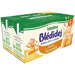 Blédidej - Céréales au lait de suite saveur caramel,...