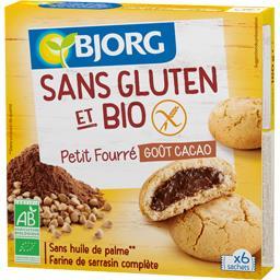 Petit fourré goût cacao sans gluten BIO