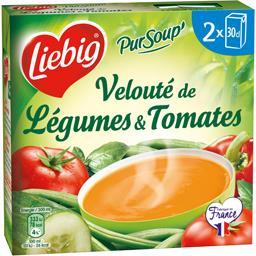 Liebig Pur'Soup - Velouté de légumes & tomates les 2 briques de 30 cl