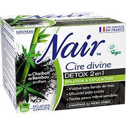 Cire divine Detox 2 en 1 au charbon de bambou