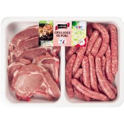 côtes et côtes d'échines de porc, chipolatas supérieures