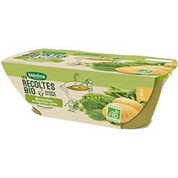 Les Récoltes BIO - Mousseline légumes verts BIO, dès 8 mois