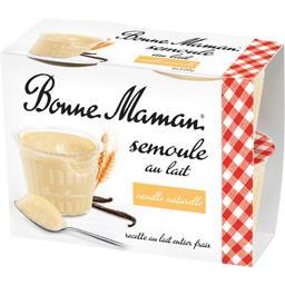 Semoule au lait vanille naturelle