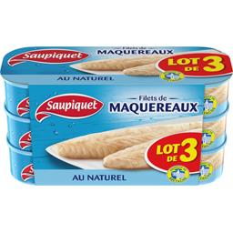 Saupiquet Filets de maquereaux au naturel