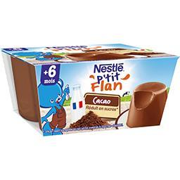 P'tit flan chocolat, 6+ mois