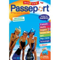 Passeport de la 6ème à la 5ème - nouveaux programmes