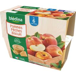 Desserts pommes pêches biscuit, de 6 mois à 36 mois