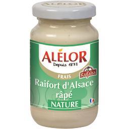 Raifort d'Alsace râpé nature,Raifalsa,le pot de 140g