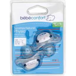 Sucettes Natural Physio silicone bleu Rebel, 18-36m