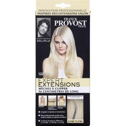 Mèches à clipper 56 cm de long, blond platine