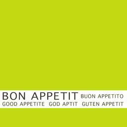 Serviettes 3 plis 33x33 cm vert anis Bon Appétit