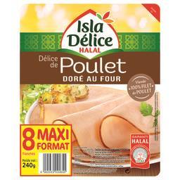 Délice de poulet doré au four halal