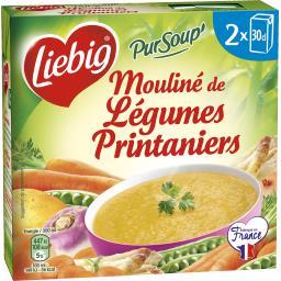 mouliné de légumes printaniers pur soup' liebig 2x30cl