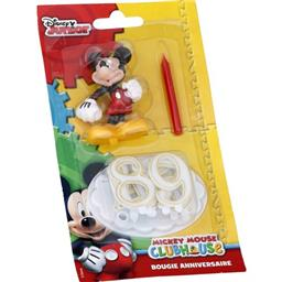Bougie anniversaire chiffres Mickey Mouse
