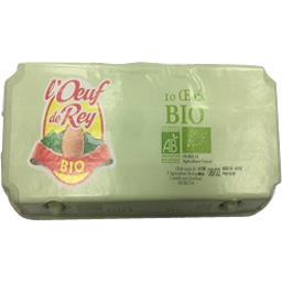 L'œuf de rey Oeufs BIO calibre moyen La boite de 10