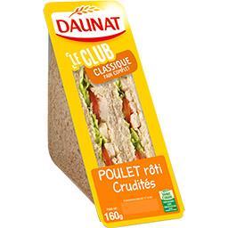 Le Club - Sandwich Classique poulet rôti crudités