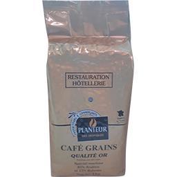 Café grains qualité or