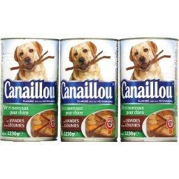 Patée viande/légumes, aliment pour chien