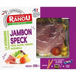 Salade La Gourmande jambon Speck pâtes