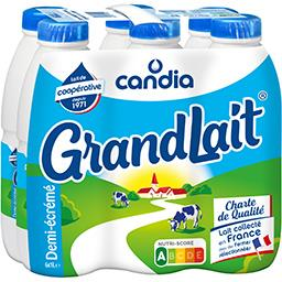 Grandlait, lait demi-écrémé stérilisé UHT, collecté ...