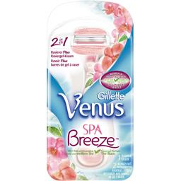 Vénus Spa breeze 2 en 1, rasoir plus + 2 recharges barres de gel à raser