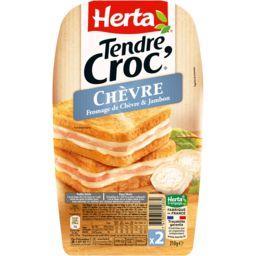 Tendre Croc' - Croque-monsieur chèvre & jambon