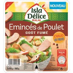 Emincés de poulet goût fumé halal