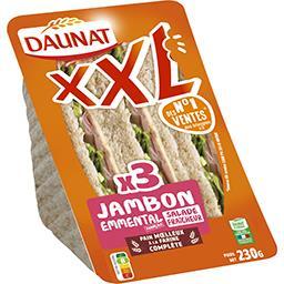 Daunat XXL - Sandwich pain complet jambon emmental salade