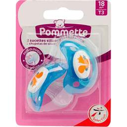 Sucettes silicone T3, 18 m+