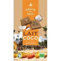 Tablette chocolat lait coco 100g Grain de Sail