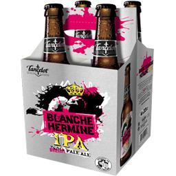 Lancelot Bière blanche Hermine IPA les 4 bouteilles de 33 cl